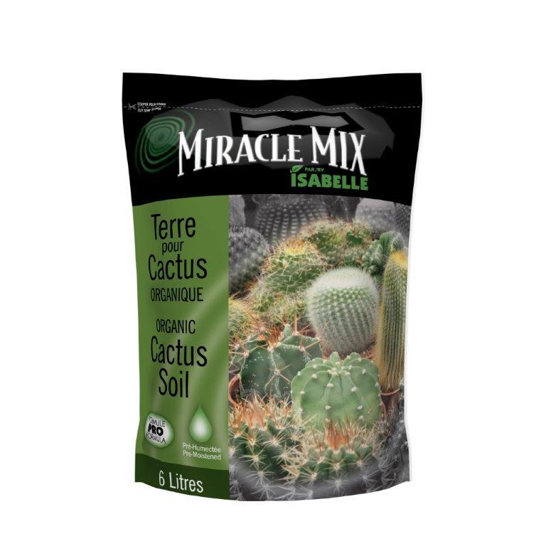 terreau organique pour cactus 6 litres miracle mix les. Black Bedroom Furniture Sets. Home Design Ideas